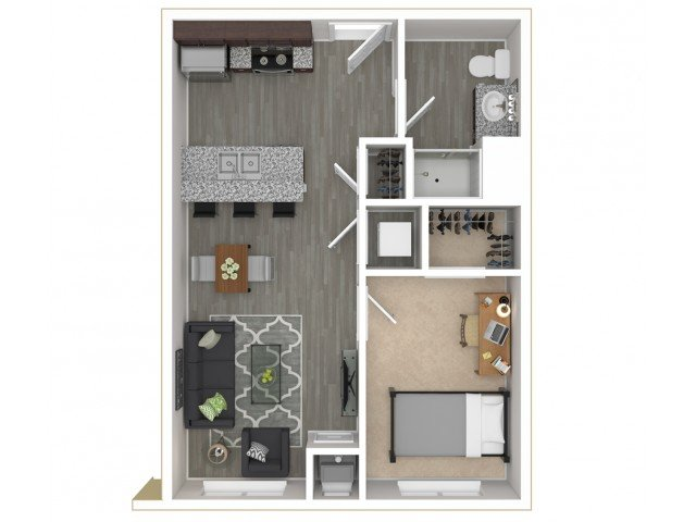 1 Bedroom 1 Bathroom Apartment for rent at District Flats in Columbia, MO