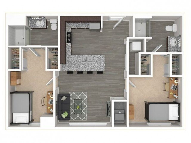 2 Bedrooms 2 Bathrooms Apartment for rent at District Flats in Columbia, MO