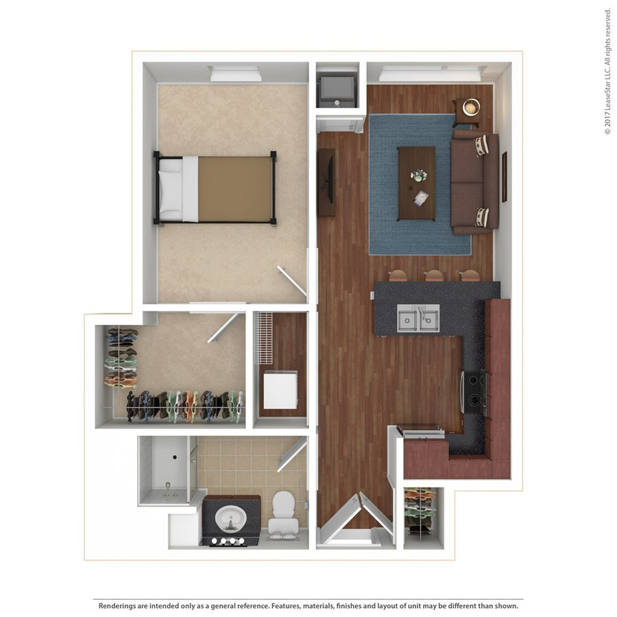 1 Bedroom 1 Bathroom Apartment for rent at Edge On Oak in Minneapolis, MN
