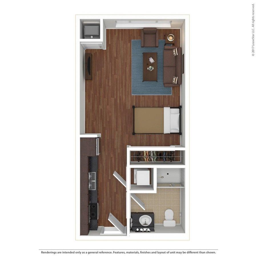 Studio 1 Bathroom Apartment for rent at Edge On Oak in Minneapolis, MN