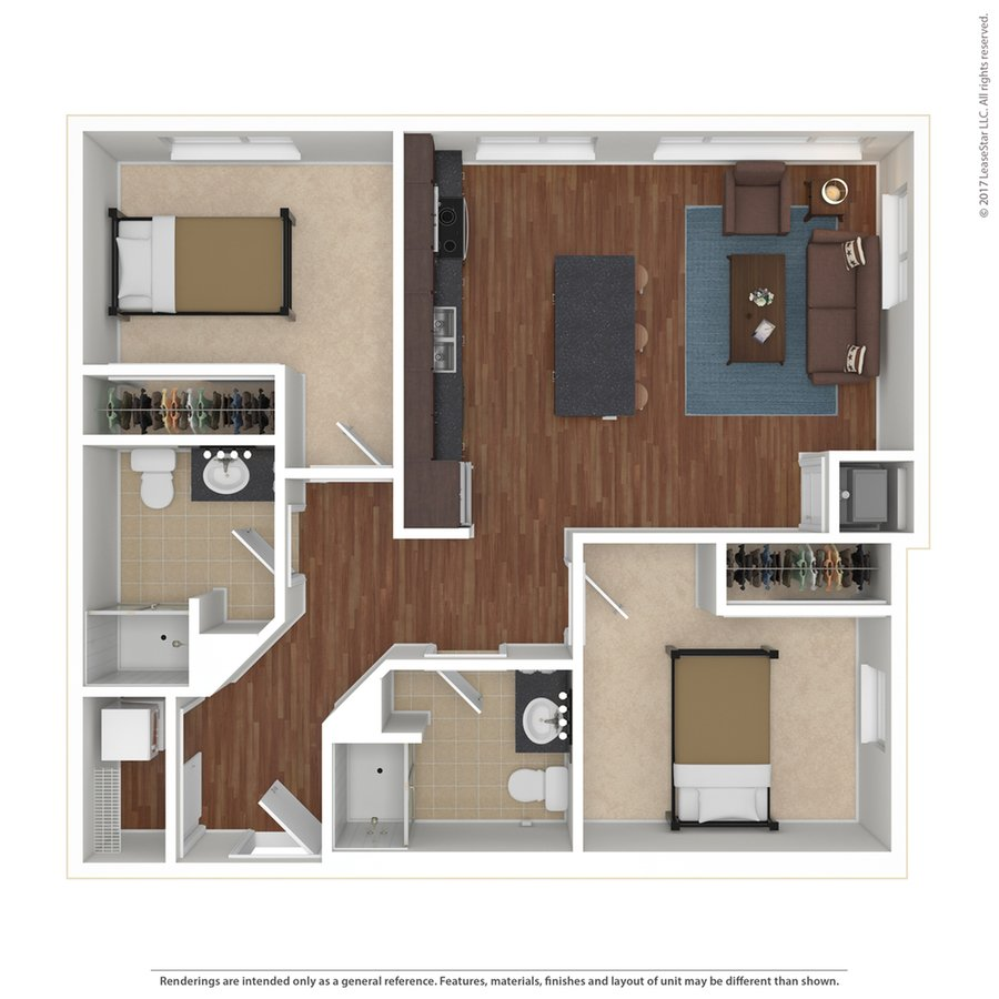 2 Bedrooms 2 Bathrooms Apartment for rent at Edge On Oak in Minneapolis, MN