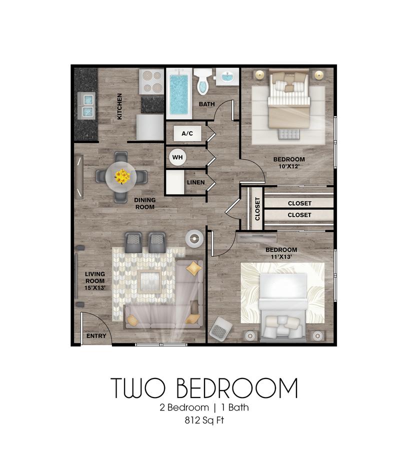 2 Bedrooms 1 Bathroom Apartment for rent at Presidio Flats in San Antonio, TX