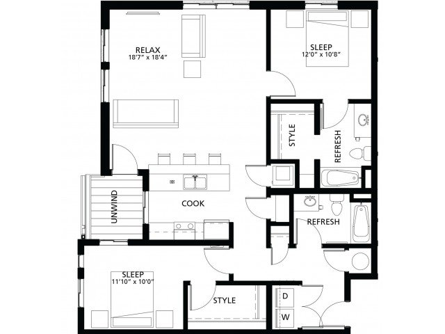 2 Bedrooms 2 Bathrooms Apartment for rent at Cityville On 9th in Des Moines, IA