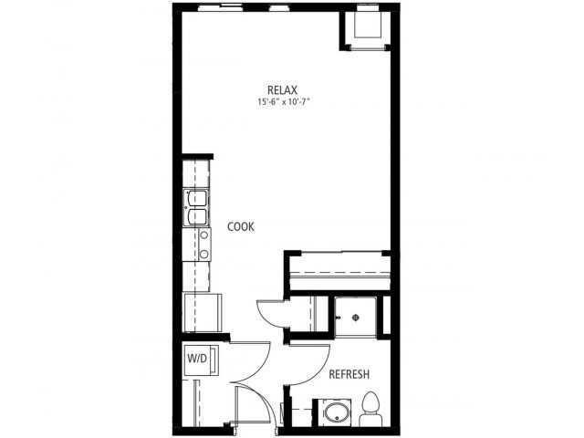 Studio 1 Bathroom Apartment for rent at Cityville On 9th in Des Moines, IA