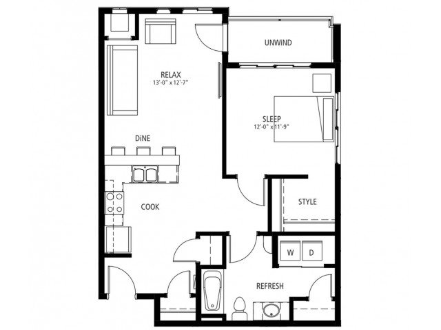 1 Bedroom 1 Bathroom Apartment for rent at Cityville On 9th in Des Moines, IA