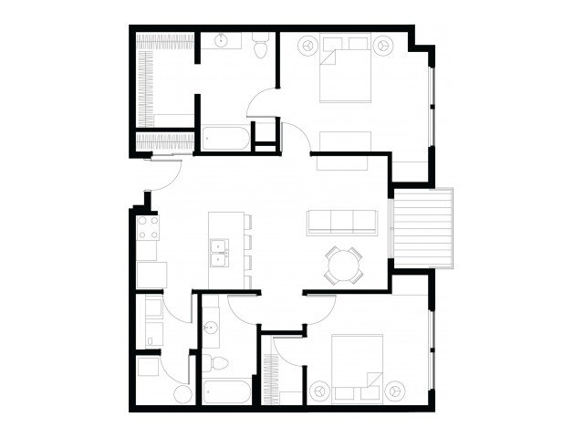 2 Bedrooms 2 Bathrooms Apartment for rent at Vue Apartments in Des Moines, IA