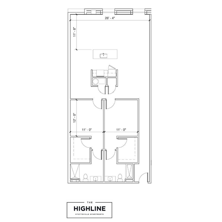 2 Bedrooms 2 Bathrooms Apartment for rent at The Highline in Hyattsville, MD