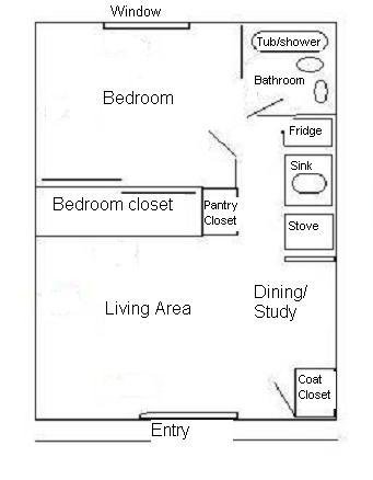 1 Bedroom 1 Bathroom Apartment for rent at Michael Street Apartments in Iowa City, IA