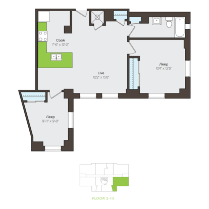 2 Bedrooms 1 Bathroom Apartment for rent at Brownhardt in Kansas City, MO