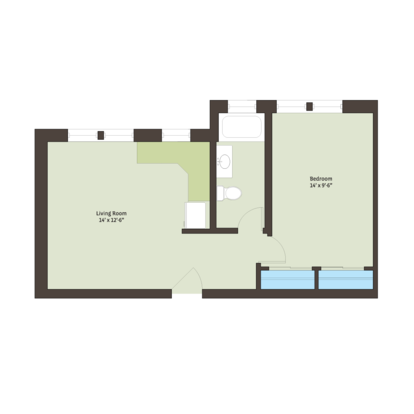 1 Bedroom 1 Bathroom Apartment for rent at Kenwood Court in Chicago, IL