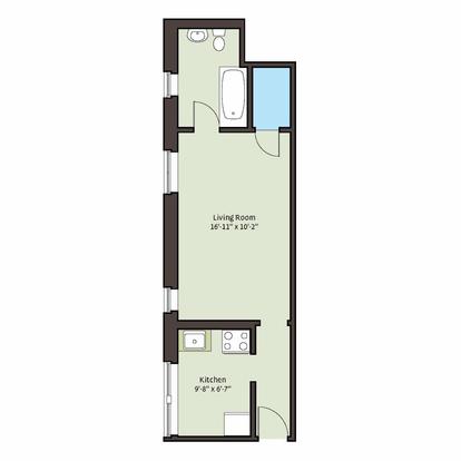 Studio 1 Bathroom Apartment for rent at 5049 S. Drexel Boulevard in Chicago, IL
