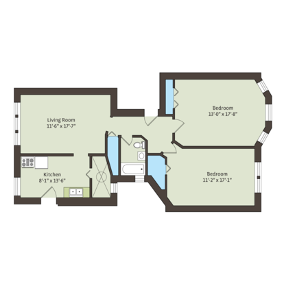 2 Bedrooms 1 Bathroom Apartment for rent at 925 East 46th Street in Chicago, IL