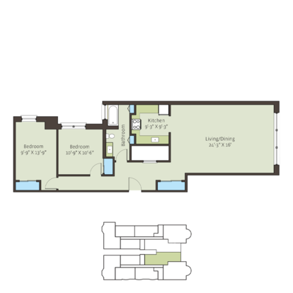 2 Bedrooms 1 Bathroom Apartment for rent at Paramour in Chicago, IL