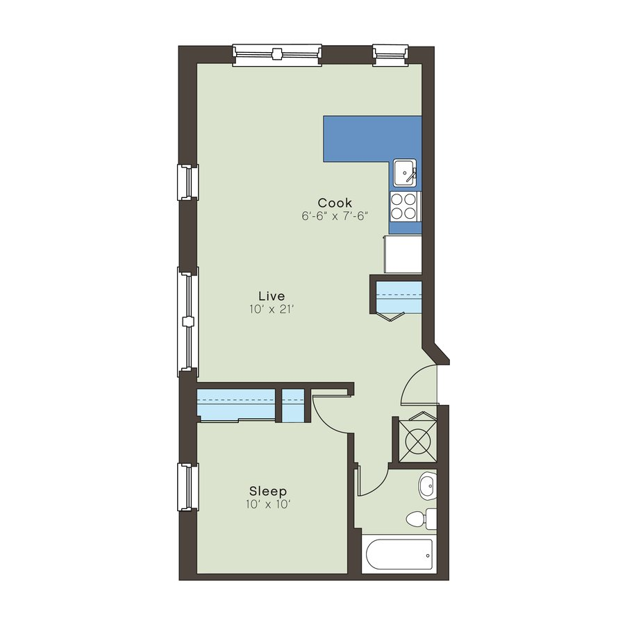 1 Bedroom 1 Bathroom Apartment for rent at Kenwood in Kansas City, MO