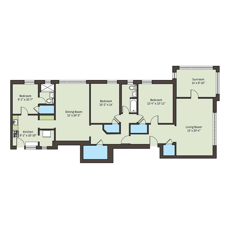 3 Bedrooms 1 Bathroom Apartment for rent at 5715-5725 S. Kimbark Avenue in Chicago, IL