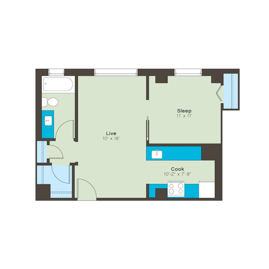 1 Bedroom 1 Bathroom Apartment for rent at Bellerive in Kansas City, MO