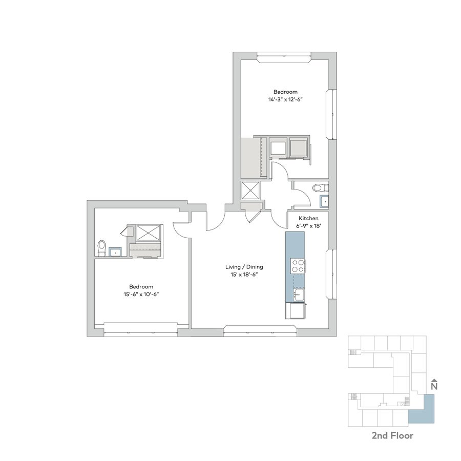 2 Bedrooms 2 Bathrooms Apartment for rent at Interstate Flats in Kansas City, MO