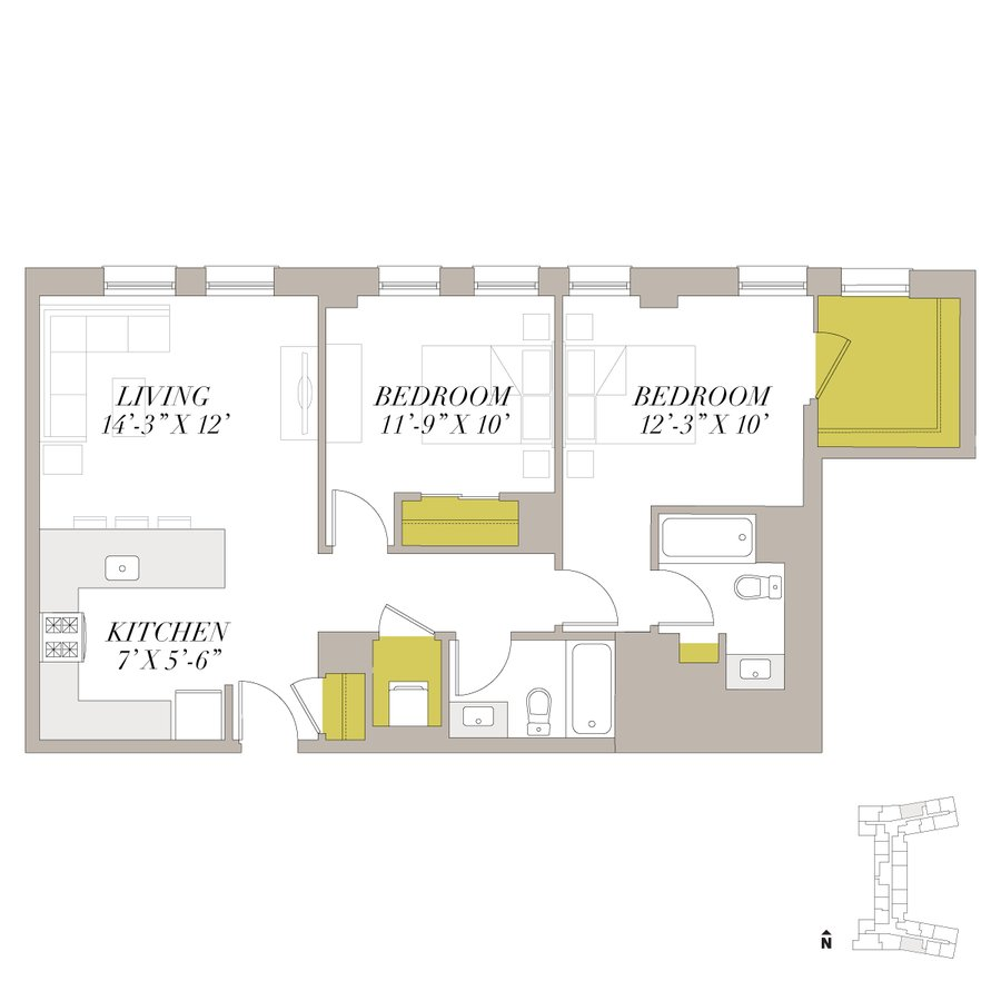 2 Bedrooms 2 Bathrooms Apartment for rent at Shoreland in Chicago, IL