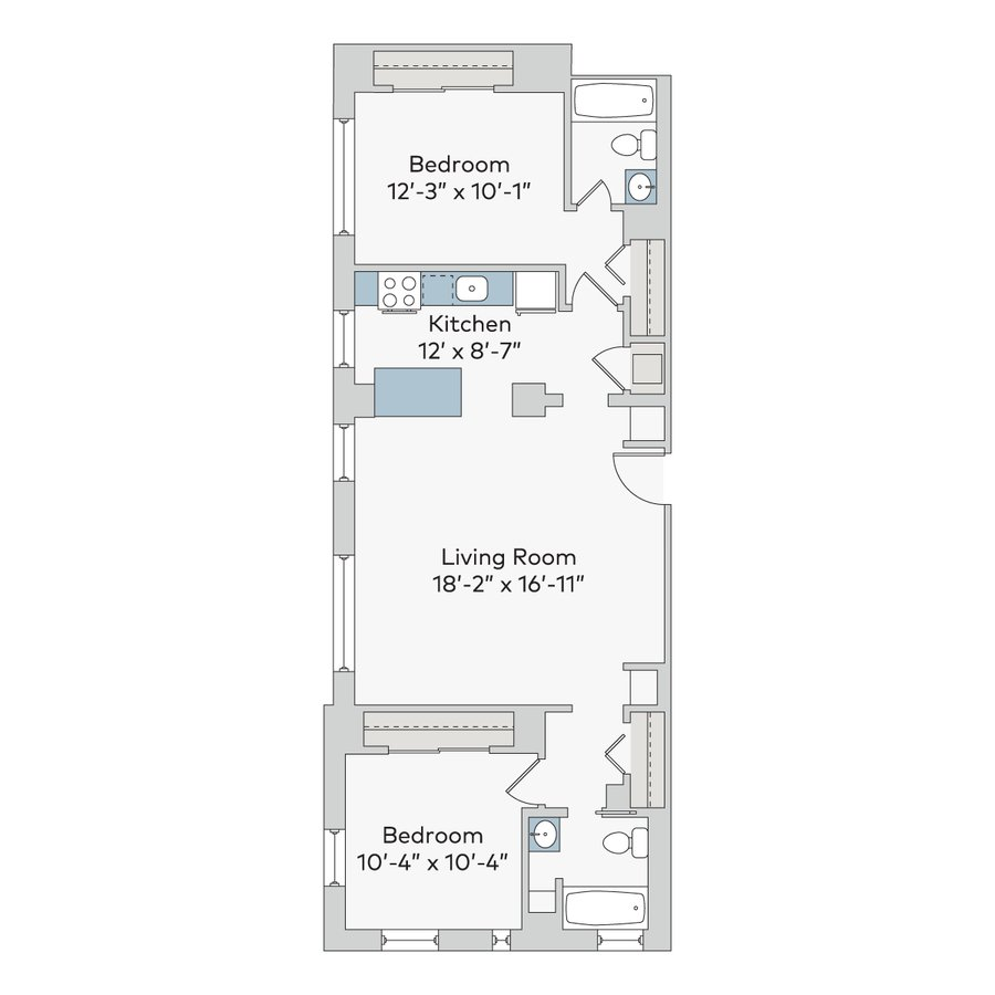 2 Bedrooms 2 Bathrooms Apartment for rent at The Newbern in Kansas City, MO