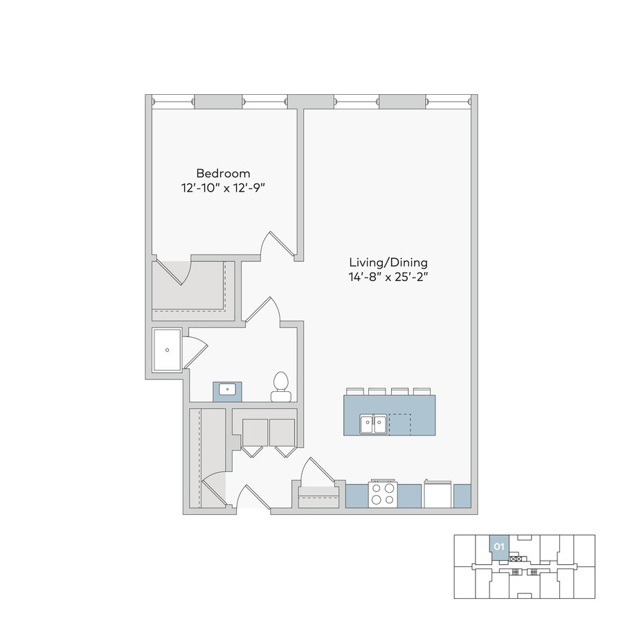 1 Bedroom 1 Bathroom Apartment for rent at International in Kansas City, MO