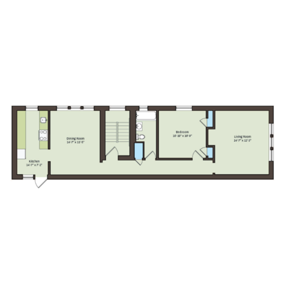 1 Bedroom 1 Bathroom Apartment for rent at 5053 S. Ellis Avenue in Chicago, IL