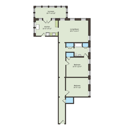 2 Bedrooms 1 Bathroom Apartment for rent at 5325 S. Hyde Park Boulevard in Chicago, IL