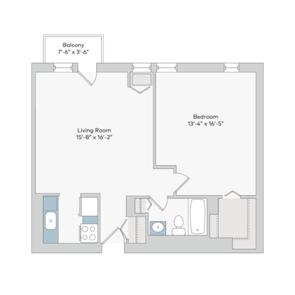 1 Bedroom 1 Bathroom Apartment for rent at Georgian Court in St Louis, MO