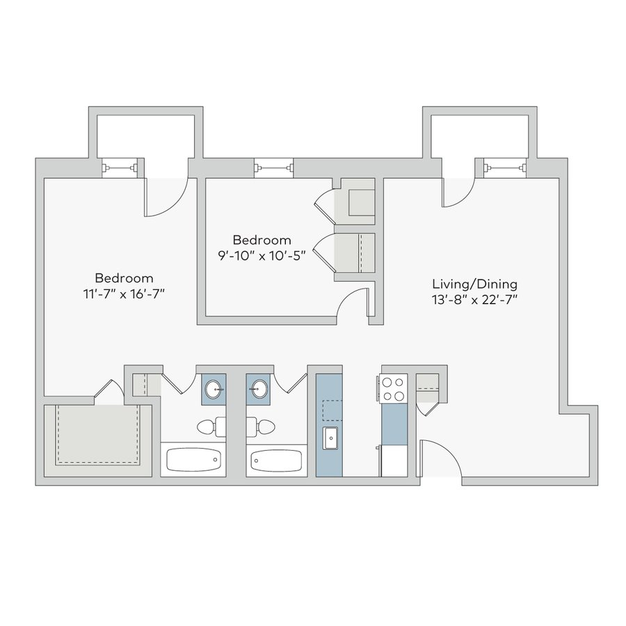 2 Bedrooms 2 Bathrooms Apartment for rent at Georgian Court in St Louis, MO