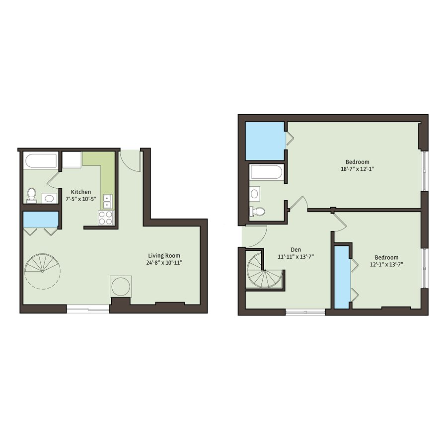 2 Bedrooms 2 Bathrooms Apartment for rent at Cornell Terrace in Chicago, IL