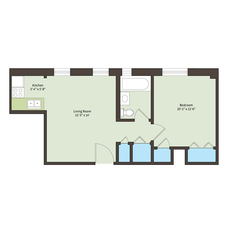 1 Bedroom 1 Bathroom Apartment for rent at Cornell Terrace in Chicago, IL