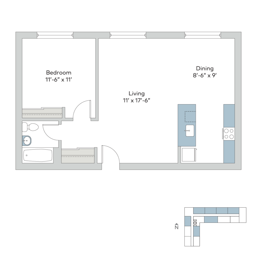 1 Bedroom 1 Bathroom Apartment for rent at The Hamilton in Kansas City, MO