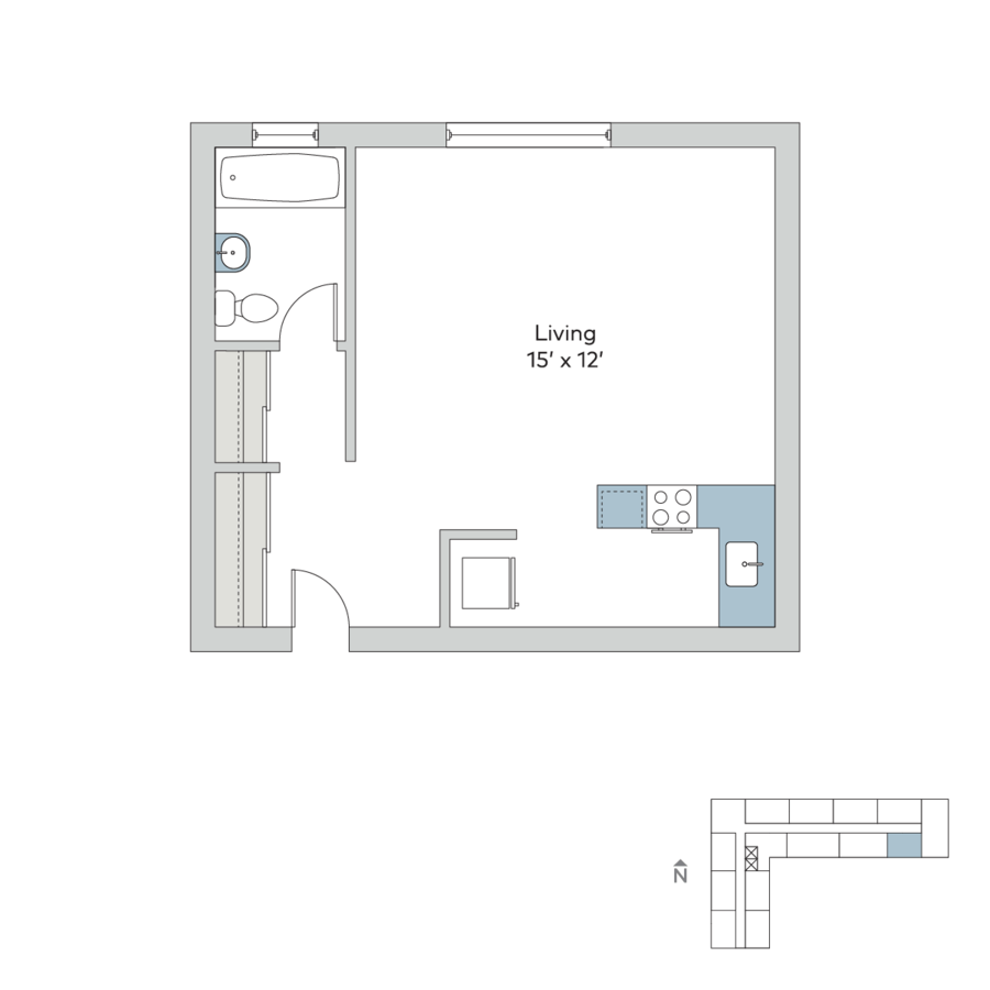 Studio 1 Bathroom Apartment for rent at The Hamilton in Kansas City, MO