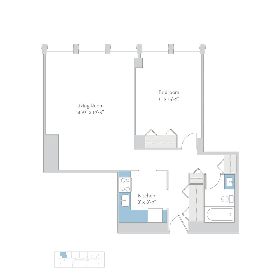 1 Bedroom 1 Bathroom Apartment for rent at Regents Park in Chicago, IL