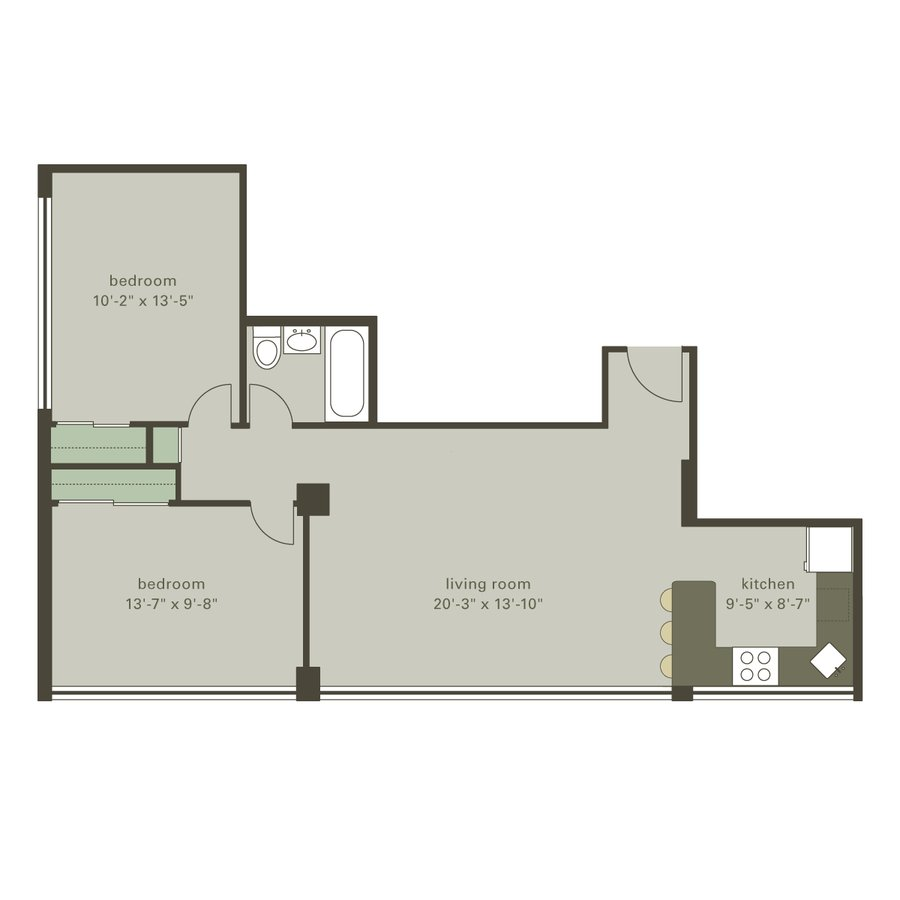 2 Bedrooms 1 Bathroom Apartment for rent at Algonquin Apartments in Chicago, IL