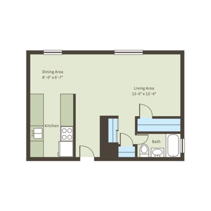Studio 1 Bathroom Apartment for rent at Six40 in Kansas City, MO