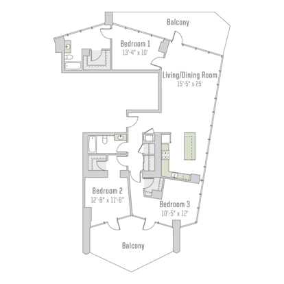 3 Bedrooms 3 Bathrooms Apartment for rent at City Hyde Park in Chicago, IL