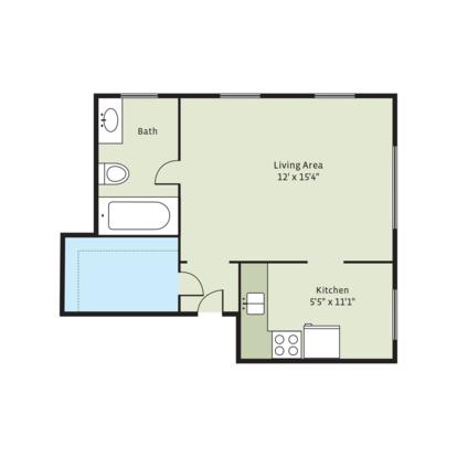 Studio 1 Bathroom Apartment for rent at Del Monte in Kansas City, MO