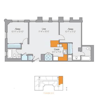 2 Bedrooms 2 Bathrooms Apartment for rent at Clyde Manor in Kansas City, MO