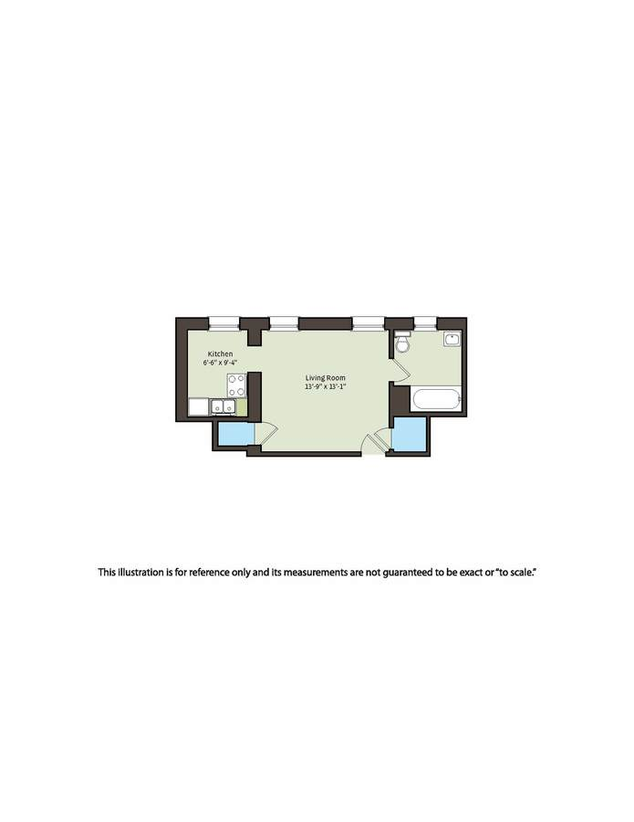 Studio 1 Bathroom Apartment for rent at 5528-5532 S. Everett Avenue in Chicago, IL