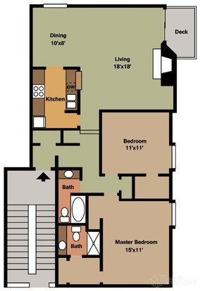 2 Bedrooms 1 Bathroom Apartment for rent at The Fountains At Lindenwoods in Kansas City, MO