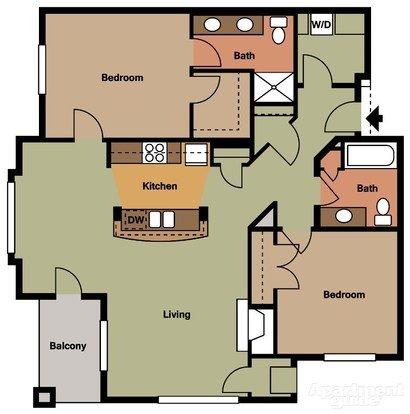 2 Bedrooms 2 Bathrooms Apartment for rent at Van Buren Place in Sun Prairie, WI