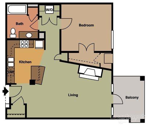 1 Bedroom 1 Bathroom Apartment for rent at Van Buren Place in Sun Prairie, WI