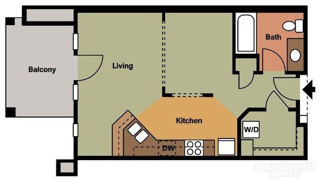 Studio 1 Bathroom Apartment for rent at Van Buren Place in Sun Prairie, WI