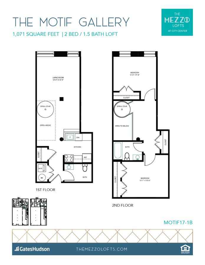2 Bedrooms 1 Bathroom Apartment for rent at The Mezzo Lofts in Richmond, VA