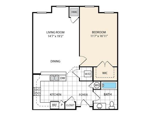 1 Bedroom 1 Bathroom Apartment for rent at Reid's Prospect in Woodbridge, VA