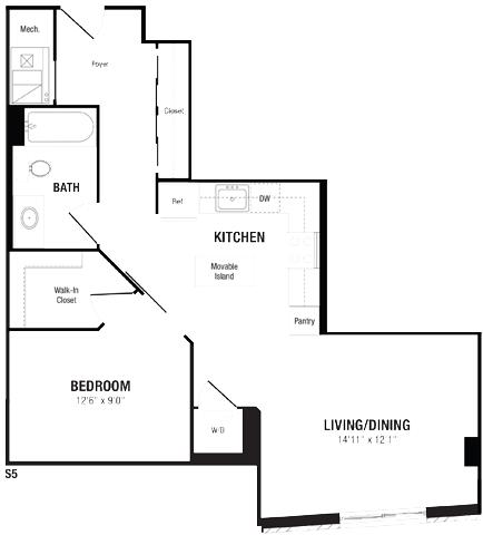Studio 1 Bathroom Apartment for rent at Crystal Flats in Arlington, VA