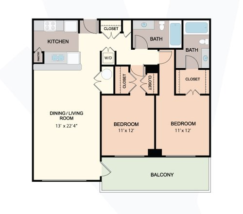 2 Bedrooms 2 Bathrooms Apartment for rent at Prosperity Flats Apartments in Fairfax, VA