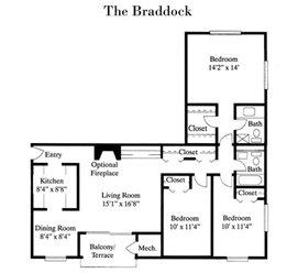 3 Bedrooms 2 Bathrooms Apartment for rent at Fairfax Square in Fairfax, VA