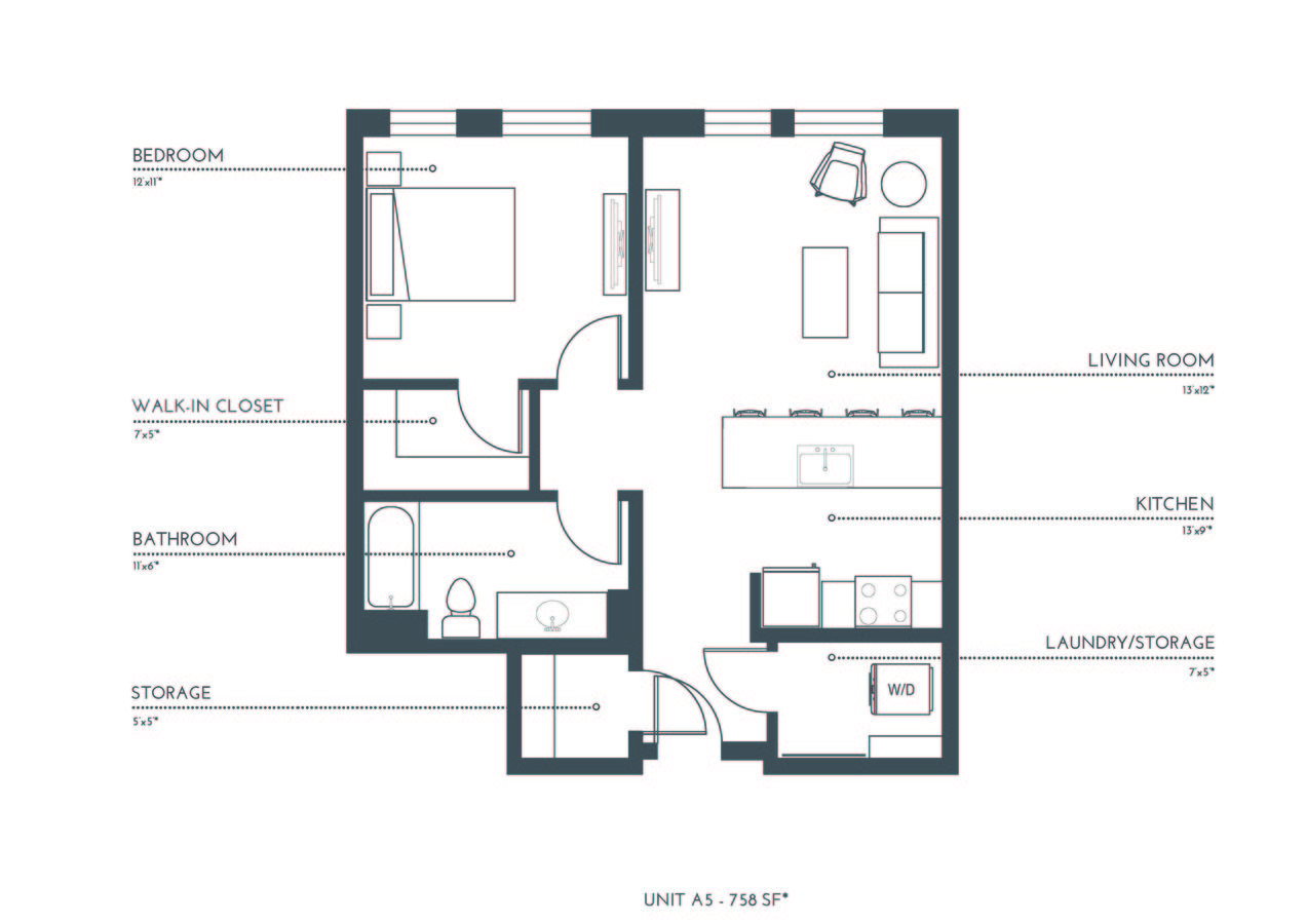 1 Bedroom 1 Bathroom Apartment for rent at Theo in Denver, CO