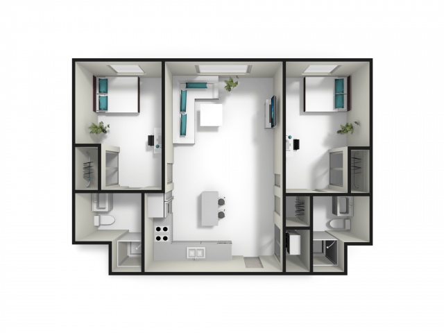 2 Bedrooms 2 Bathrooms Apartment for rent at Fuse in West Lafayette, IN